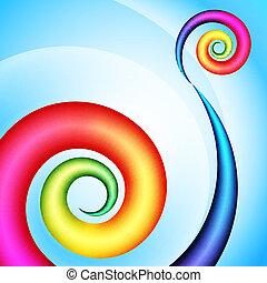 Colorful swirl shape