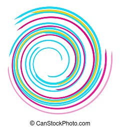 Colorful swirl spiral on white background
