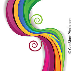 Colorful swirly vector background