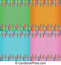 Colorful sword card board texture