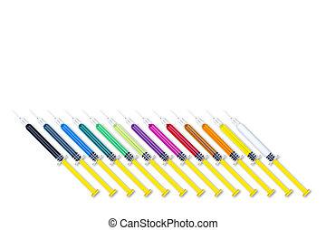 Colorful Syringes Tilt Set