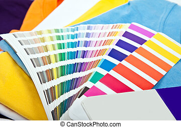 colorful t shirts and color scale