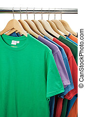 t-shirts  - Colorful t-shirts on the hanger