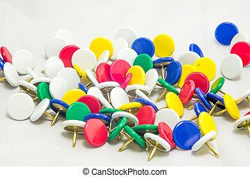 Colorful tacks