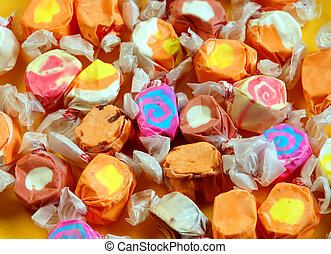 Colorful taffy candy