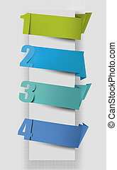 Colorful tags with numbers. Vector