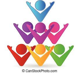 Colorful teamwork business logo - Colorful teamwork...