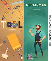 Colorful Technician Vertical Banners