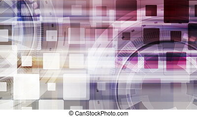 Colorful technology gears abstract motion design. Video...