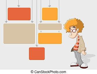 cartoon redhead man