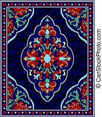 Colorful template for carpet.