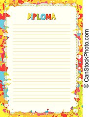 Colorful template for diploma