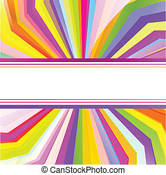 Colorful template with sun burst background