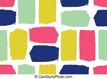 Colorful Textured brush stroke Seamless Pattern. Hand drawn ink strokes