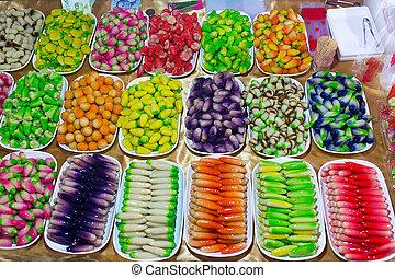 Colorful Thai candies