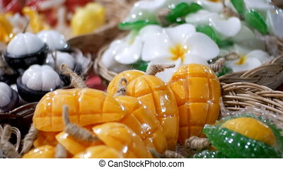 Colorful Thai Handmade Soap in the form of Exotic Fruit on...