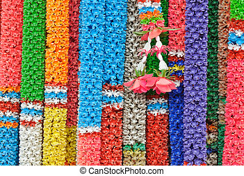 Colorful Thai style garlands