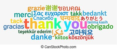 colorful thank you word cloud in different languages