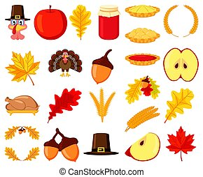Colorful thanksgiving 23 element set