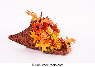 Thanksgiving Horn Of Plenty - Colorful Thanksgiving Horn Of...