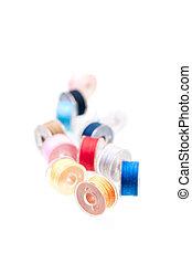 Colorful thread bobbins