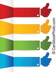 Colorful Thumbs Up Banners