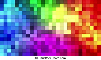 Colorful tiles mosaic loopable background