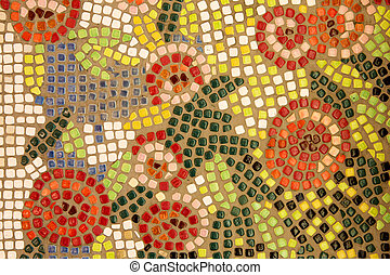 Colorful tiles with patterns
