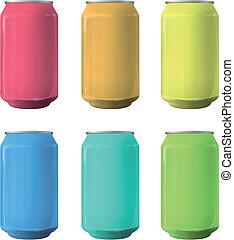 Colorful tin. Vector design