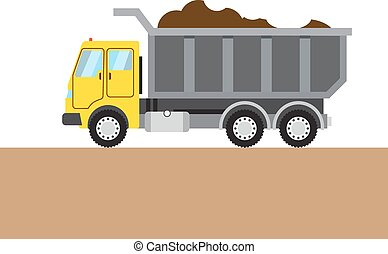 Colorful tip-truck image - Colorful tip-truc on white and ...