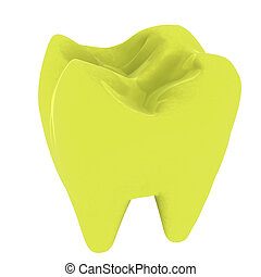 Colorful tooth. 3d illustration