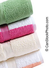 Colorful towels.