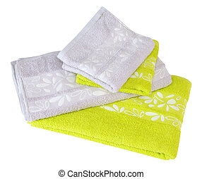 Colorful towels. Isolated