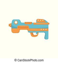 Colorful toy gun, handgun pistol for kids game vector...