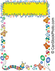 colorful toys border