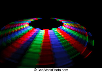 Colorful trace rotating LED in form