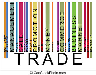 colorful trade text barcode