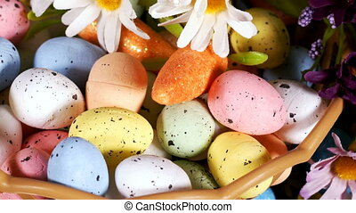 Colorful Traditional Celebration Easter Paschal Eggs