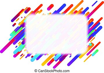 Colorful transparent abstract background on white.