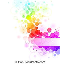 rainbow bubbles - Colorful transparent rainbow bubbles...
