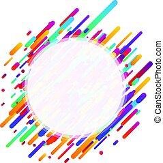 Colorful transparent round background on white.