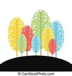 colorful tree forest background