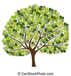 Colorful tree vector background poster