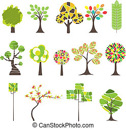 Colorful tree. Vector illustration