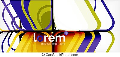 Colorful trendy geometric shapes background. Trendy abstract...
