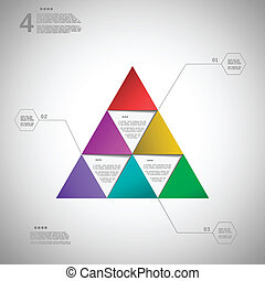 Colorful triangle for data presentation eps10 vector illustration