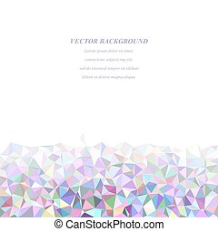 Colorful triangle mosaic background