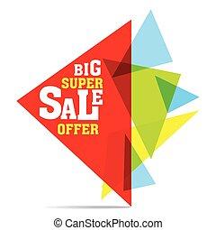 big super sale banner design