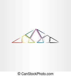 colorful triangle vector background design element