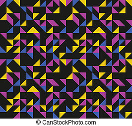 Colorful triangles background
